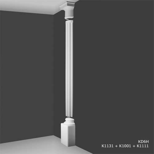 K 1131 Tall Square Half Plinth Decorative Half Columns