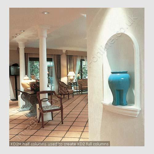 Kd 2h Hotel Half Column Decorative Half Columns Interior Half Columns House Martin Online