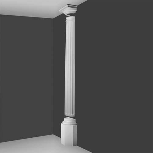 Kd 8h doric half column decorative half columns interior half columns house martin online for Interior architectural columns