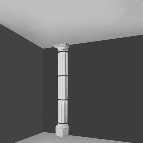 Kdxl 1h Segmented Doric Half Column Decorative Half Columns Interior Half Columns House