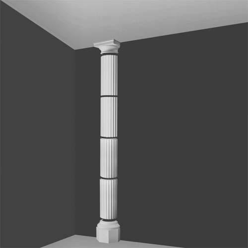 Kdxl 2h Segmented Fluted Doric Half Column Decorative